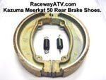 Kazuma / Meerkat 50 Rear Brake Shoes